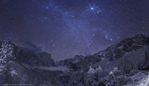 snowly star night