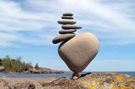 balance with rocks