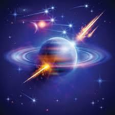 solar system with light arrow